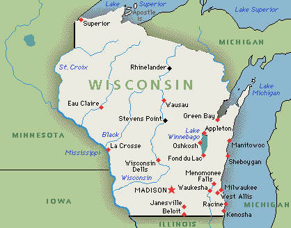 What is the state flower of Wisconsin?