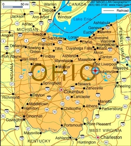 What is the state 花 of Ohio?