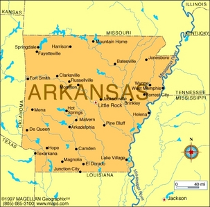 What is the state bunga of Arkansas?