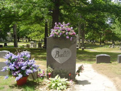 Where is the final resting place of Lucille Ball?