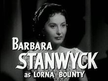 BARBARA STANWYCK's PARTNER : The Man with a Cloak ?