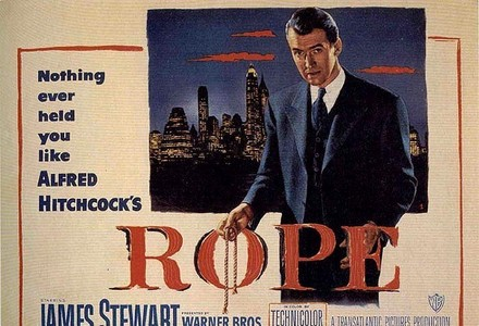 Who starred with James Stewart in Rope?
