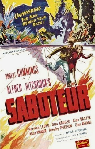 Who starred with Robert Cummings in Saboteur?