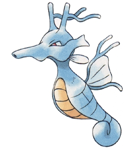 As well as being traded, What item is needed for Seadra to evolve into Kingdra?