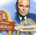 What did Ray Kroc sell before staring his shared Mcdonald's empire?