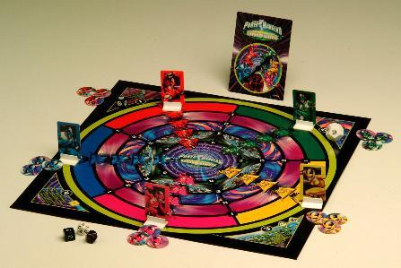 This game was made after a popular kids superhero show. There was a red,yellow,blue,pink and maybe a green superhero