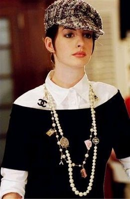 What size is her character Andy later in the movie (Devil Wears Prada), towards the end?