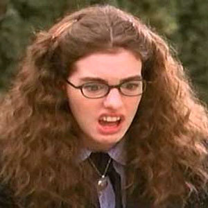 How old is her character Mia in the first Princess Diaries movie?