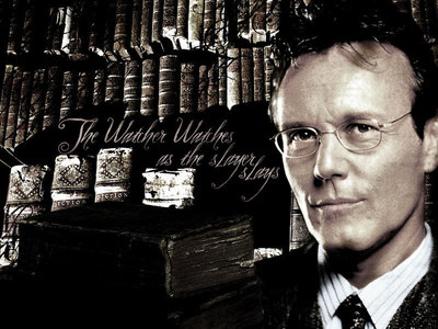How many times we see a glimpse of Giles in the season 6 credits?
