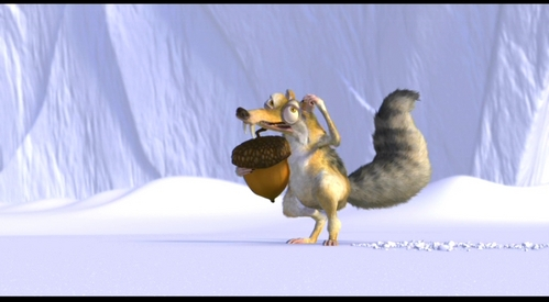 TRUE OR FALSE? Sid, Diego and Manny never actually speak or interact with Scrat.