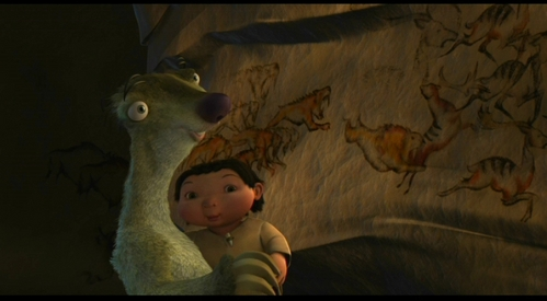 How does Sid explain the Wand drawings of Tiger eating antelopes to Pinky?