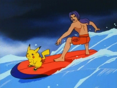 What is the name of this surfing pikachu?