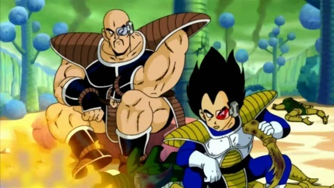 What planet does Vegeta blow up in season 1 with Nappa on their way to Earth?