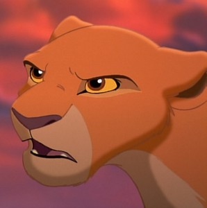 What does Kiara say Simba will never be after he banised Kovu.
