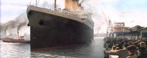 How many birds we can see when Titanic passes the little boat with white sails?