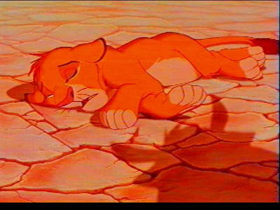 After running away from the pridelands who was Simba found by.