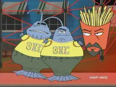 Who are those aliens next to Frylock?