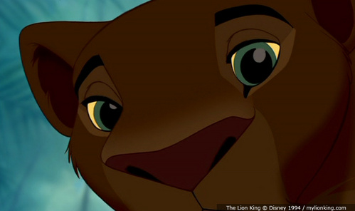 In this picture who is Nala looking at?