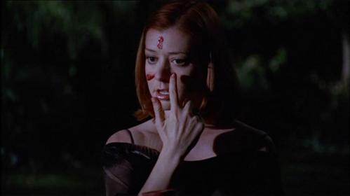 What came out of Willow's mouth while casting the resurrection spell for Buffy?