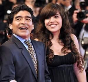 Which football player is dating Maradona's daughter,Gianna?