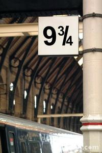 in the 1st hp book, who of the twins passes throught the 9 3/4 platform first?