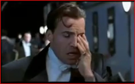 In the movie Titanic, how many takes did it take to film the scene when Rose spits at Cal?