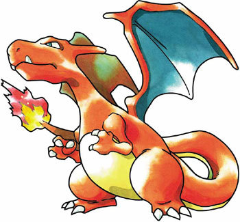 What two versions of the Pokemon games is Charizard the mascot?