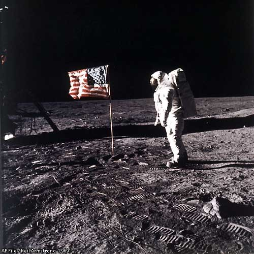 When did man first land on the moon?