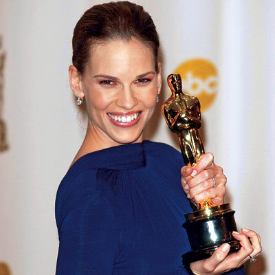 How many Oscars has Hilary Swank won? (as of 2009)