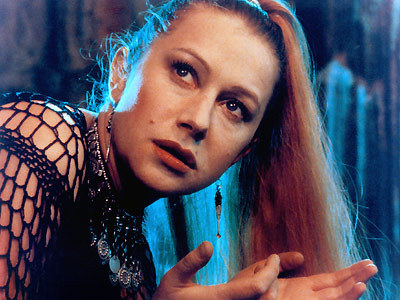 What mythological person did Helen portray in Excalibur and What was her relationship with Arthur?