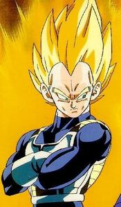 Where was Vegeta the first time he transformed into a super saiyan?