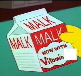 What vitamin is found in Malk?