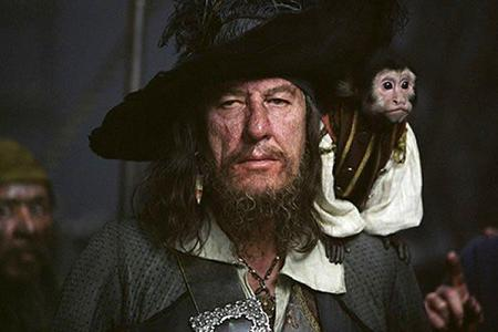 In the original draft of the script, Barbossa was ________ not English.