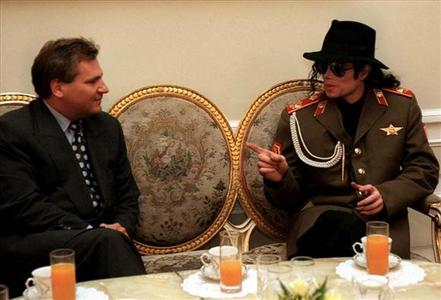 Who is in the photo with Michael?*