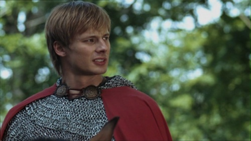 He's talking to his father, Uther. T/F?