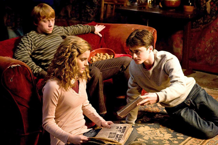 "Hp6 (Movie) - Harry: ""oh no, no, no, i mean she's brilliant, but we're friends."" Who is he talking about?"