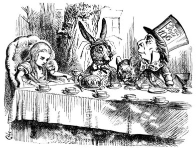 "From the ""film Alice In Wonderland"",What is the name of the tea party that Alice attends ?"