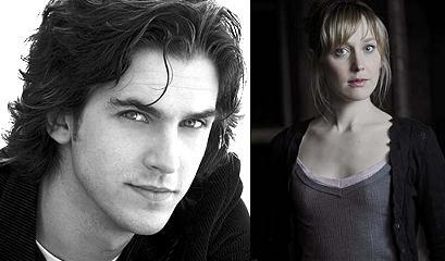 In which TV mini series do Hattie Morahan and Dan Stevens play a couple?