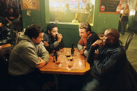 During the scene at Johnny G.'s bar in which the brothers are drinking Jack Daniels whiskey, the actors are actually drinking concentrated mela, apple juice.