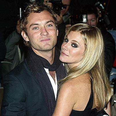 Who did Jude Law famously cheat on Sienna Miller with?