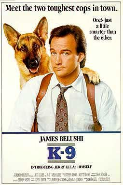 How many years after making the movie K-9 did the dog Jerry Lee, as he was called in the film, die?