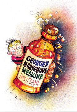 in the book George's marvillous medicine, what was the colour of the medicine?