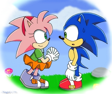 how did sonic met amy? was she