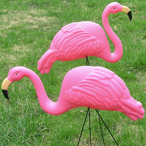 "How many plastic decorative pink flamingos did Ed and Harry have in the ""yard"" in front of their trailer the first time it was shown? (1x17, Hell House)"