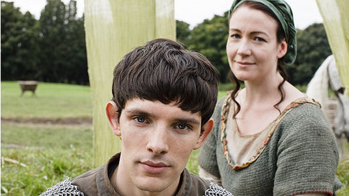 Who plays Hunith (Merlin's Mother)?
