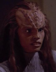 What was the name of the half-Klingon, half-Romulan Worf fell in love with in the Carraya System?