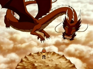 What is the name of Avatar Roku's dragon ?