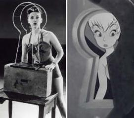 Which American actress was the 1953 model for Tinker Bell in the Walt Disney Pictures animated feature, Peter Pan?