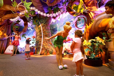 When did Disneyland's Pixie Hollow meet-and-greet area open?