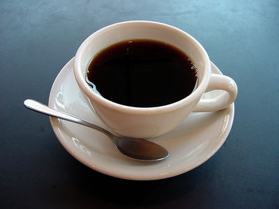 In a survey done, what percentage of Americans drink coffee for breakfast?